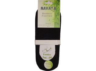 Bamboo footies black 2P 39-42