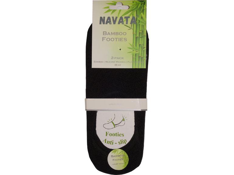 Navata Bamboo footies black 2P 39-42