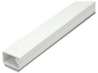 Deksel kabelgoot wit 15x6mm