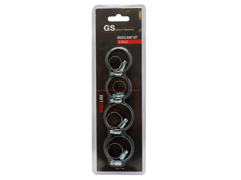 GS Slangklemmen 8 st. 11-38mm