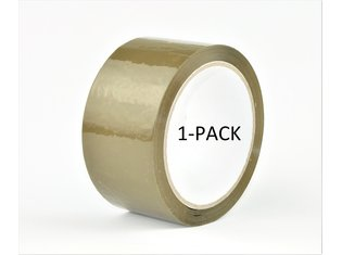 Verpakkingstape bruin 50mm x 66mtr - 1pack