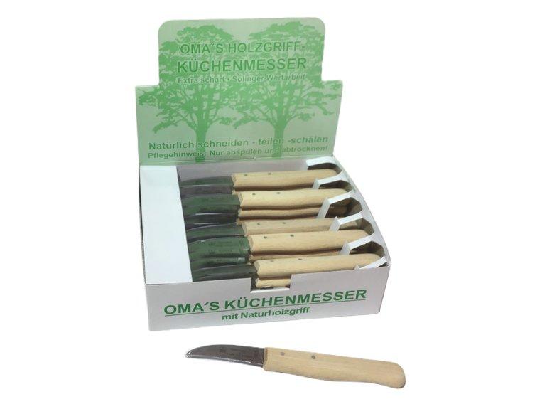 Oma's schilmesje krom hout in display