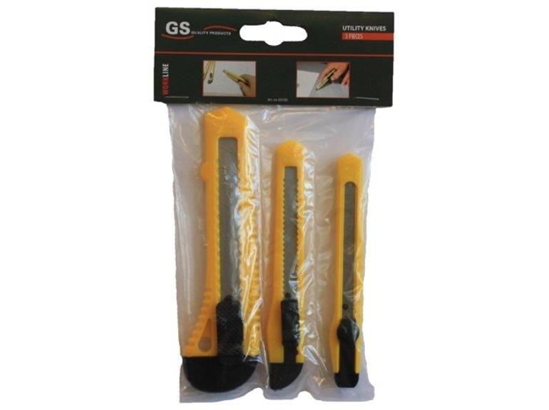 GS Afbreekmes 2x smal en 1x breed