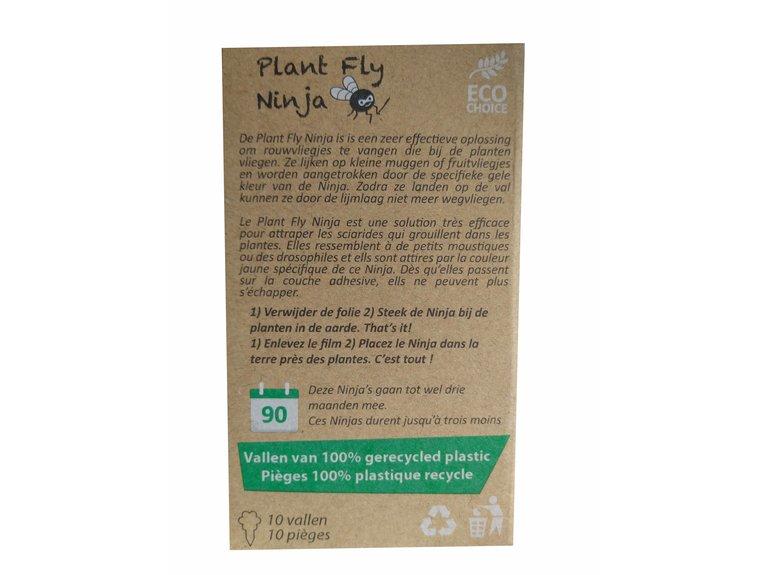 Super Ninja Plant Fly Ninja + Rouwvliegjes 10-pack NL/FR