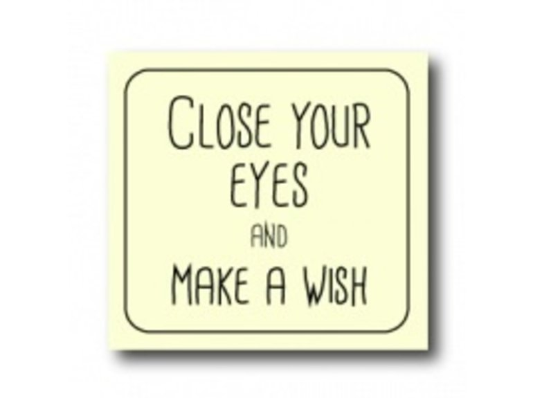 WKG Close your eyes and make a wish