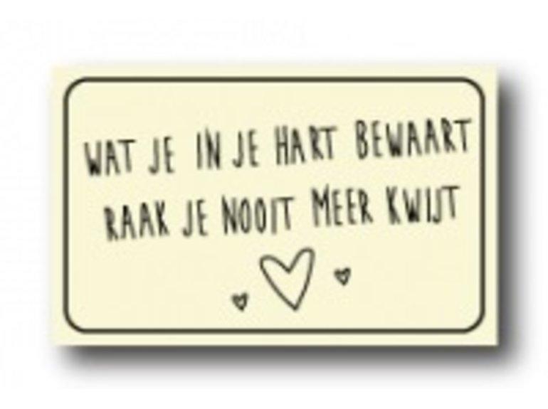 WKK Wat je in je hart bewaart…..