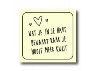 WKG Wat je in je hart bewaart….