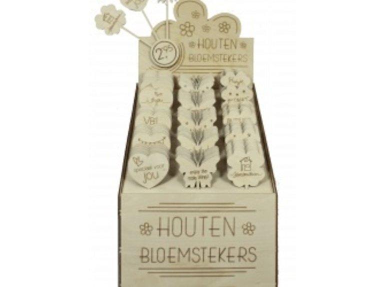 Houten bloemstekers