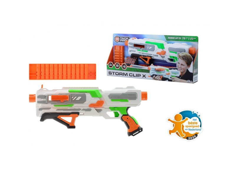Speelgoed Tack Pro® Storm Clip X met 2 clips en 24 darts, 50 cm