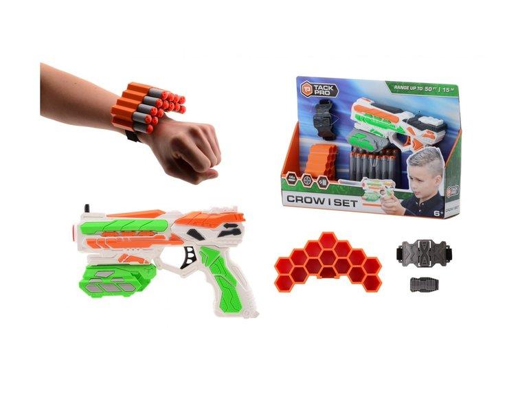 Speelgoed Tack Pro® Crow I set met 14 darts en accessoires, 18cm