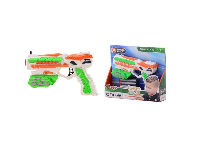 Speelgoed Tack Pro® Crow I met 6 darts, 18 cm
