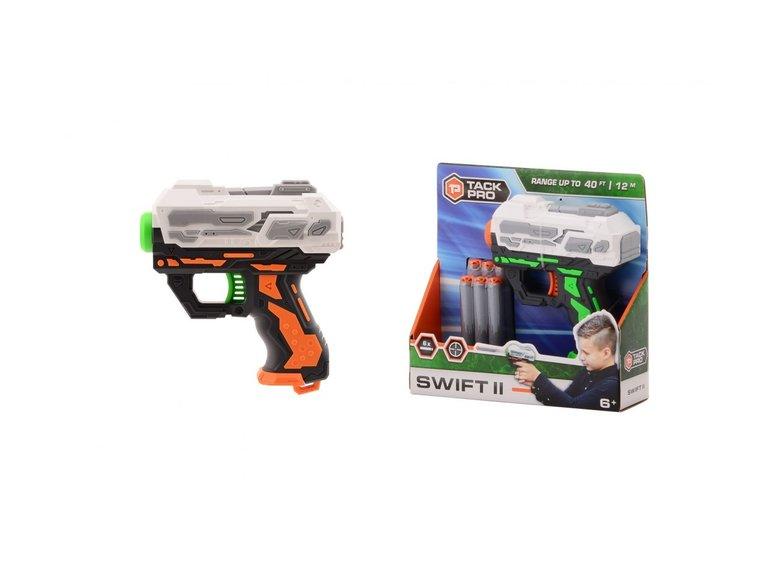 Speelgoed Tack Pro® Swift II met 6 darts, 13 cm