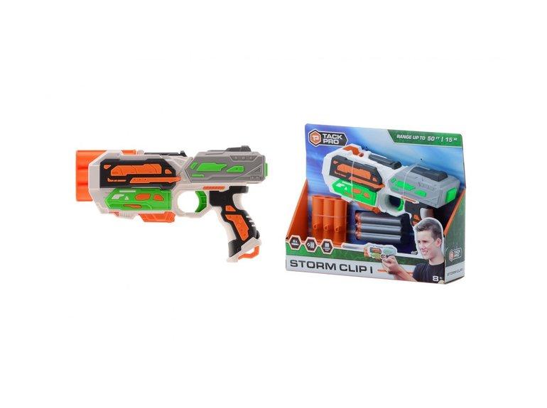 Speelgoed Tack Pro® Storm Clip I met 3 round clip en 6 darts, 20 cm