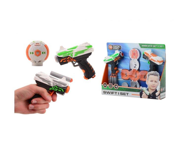 Speelgoed Tack Pro® Swift I set met 12 darts, 11cm en target ball