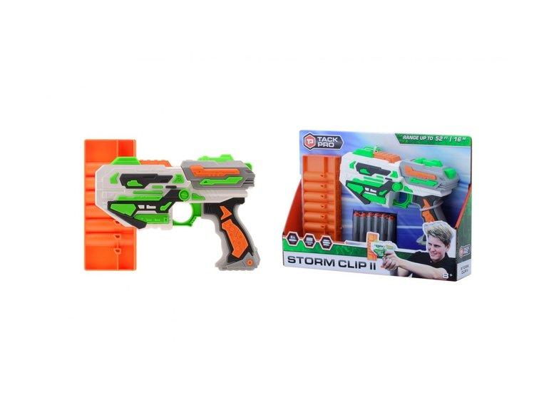 Speelgoed Tack Pro® Storm Clip II met 6 round clip en 6 darts, 31 cm