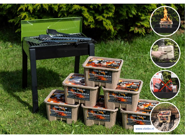 Barbecue BBQ Houtskoolbox - startset