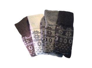 Huissok Noors patroon wol 35-46 1-Pack