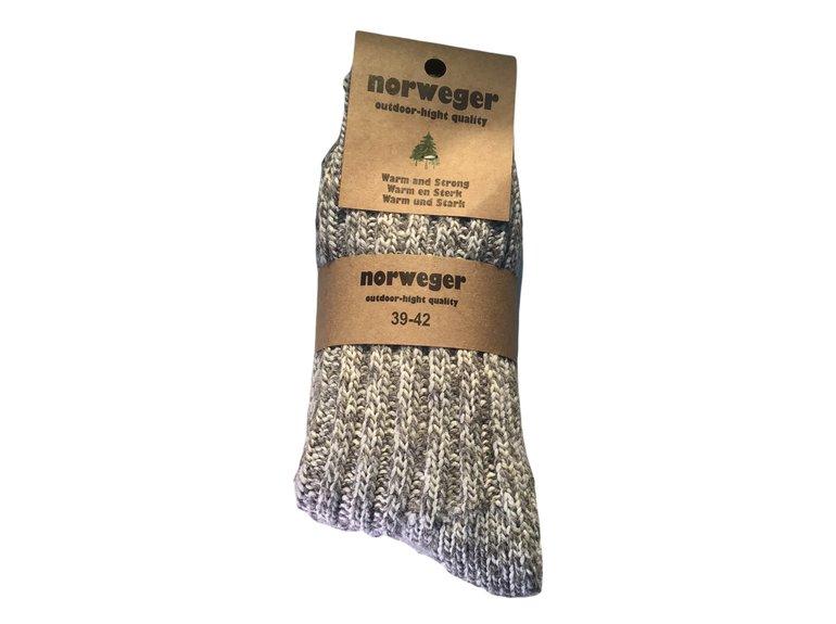 Noorse wintersok grof donker grijs 43/45 2-Pack