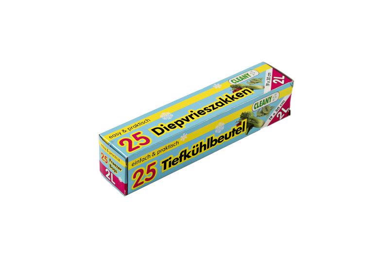 Diepvrieszak 2 ltr in doos à 25 st (20 my)