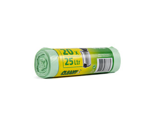 Pedaalemmerzak 50x55cm à 20 groen 25 l (7 my)