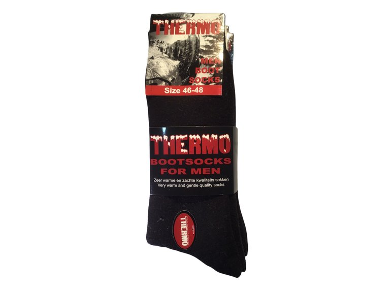 Thermosok BOOT Zwart 39-42 3-Pack