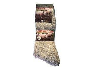 Noorse wintersok licht grijs 39/42 3-Pack