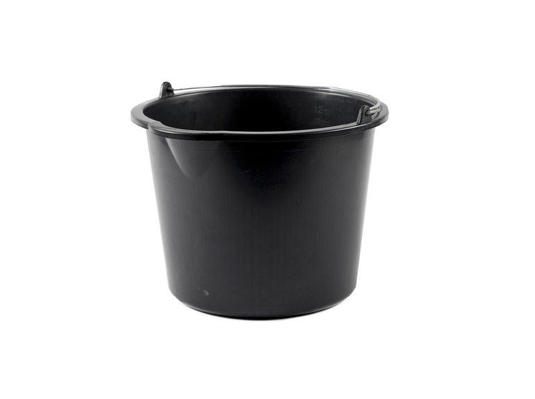Emmer 12 ltr zwart