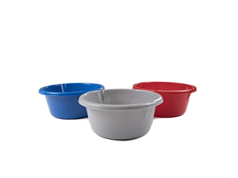 Afwasbakje rond 32cm/7 ltr assorti kleuren