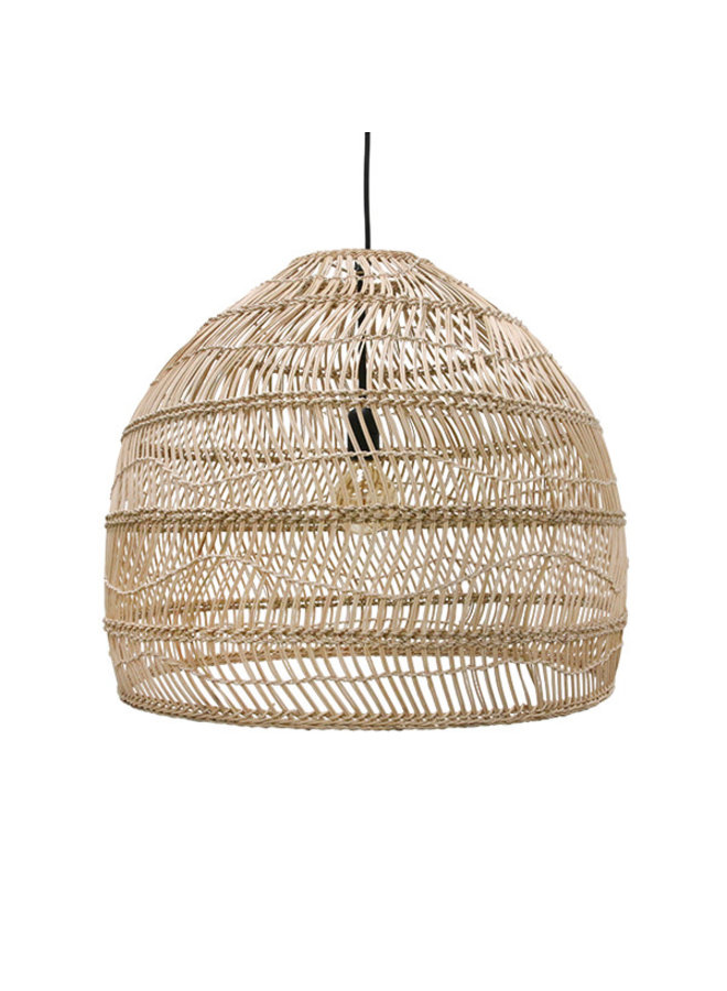 wicker hanging lamp ball m