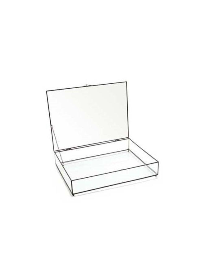 Storage Box Glass with Black Frame 42x33x9cm