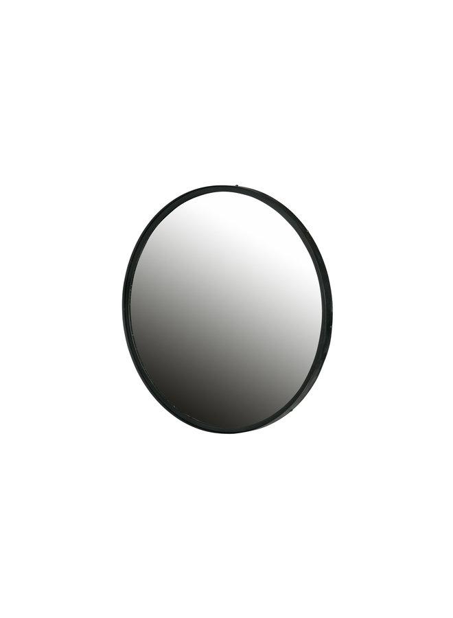 Spiegel Metaal XL Zwart Ø80 CM