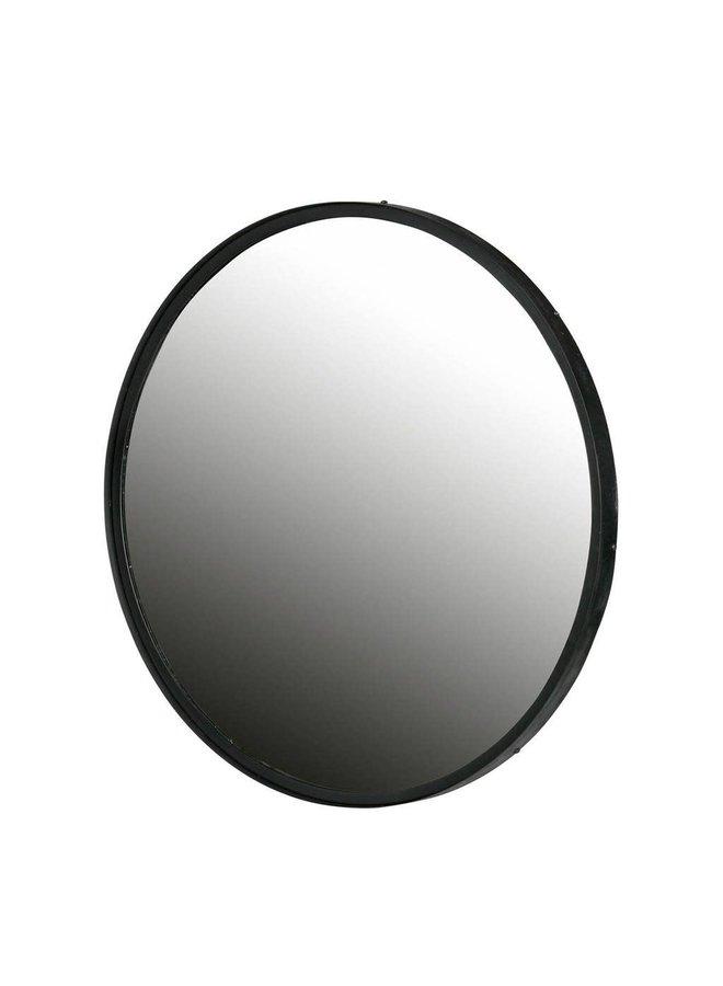 Spiegel Metaal Zwart Ø56 CM