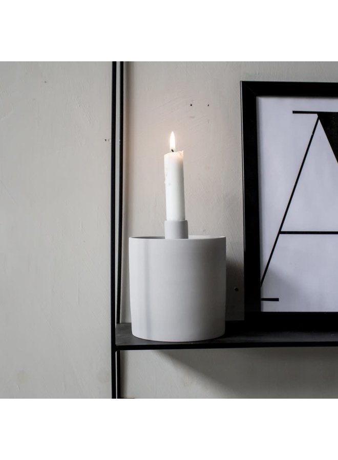 Kolboda Candle Holder With Storage Grey