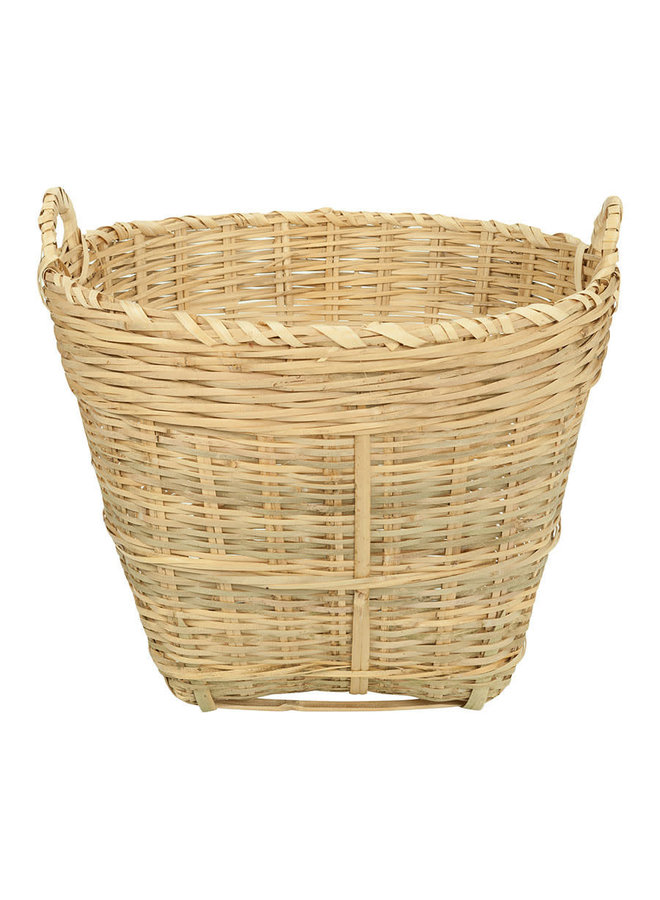 Basket with Handles Bamboo Naturel