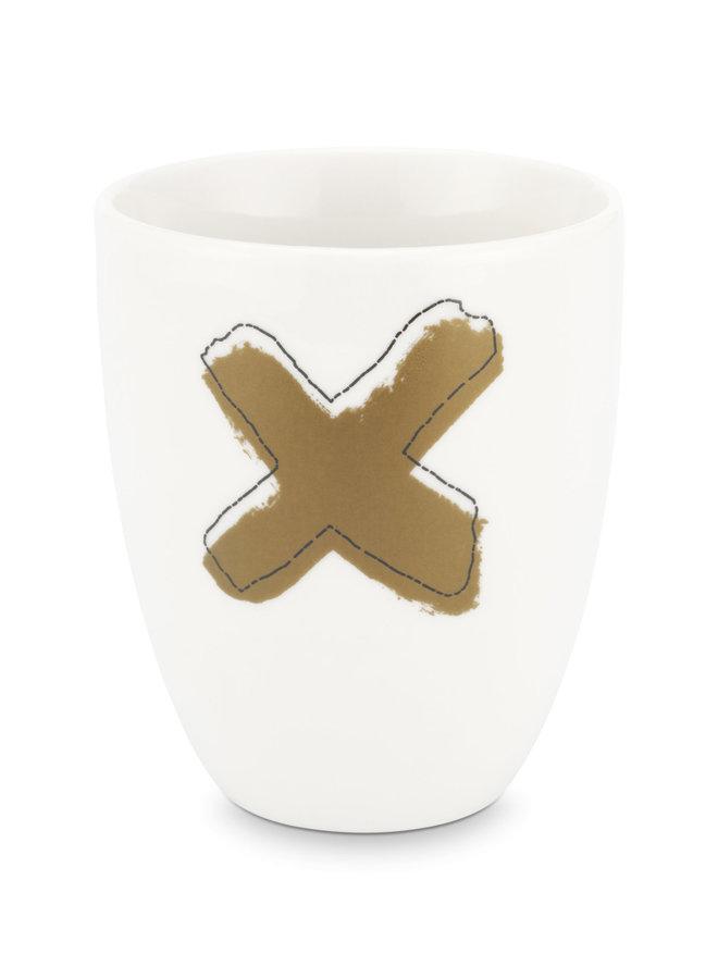 Mug without Ear Happy Christmas Cross 250ml