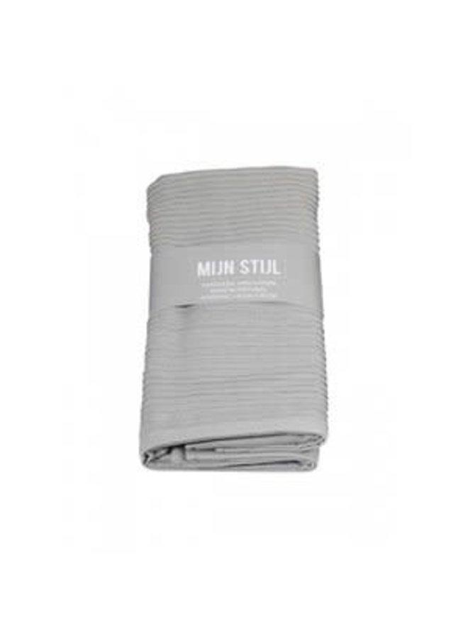 Handdoek xl licht grijs