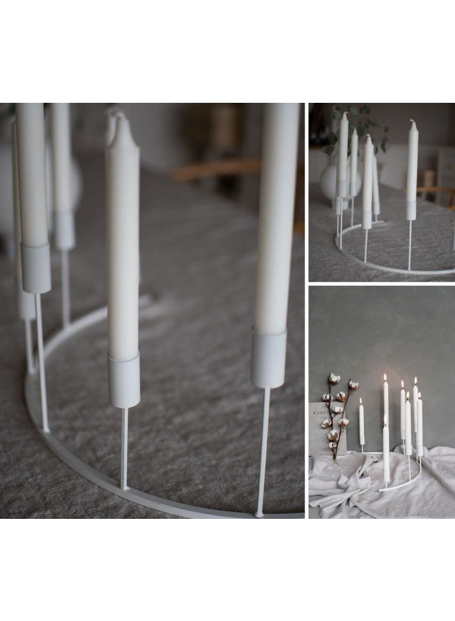 Tjärnö candle holder white
