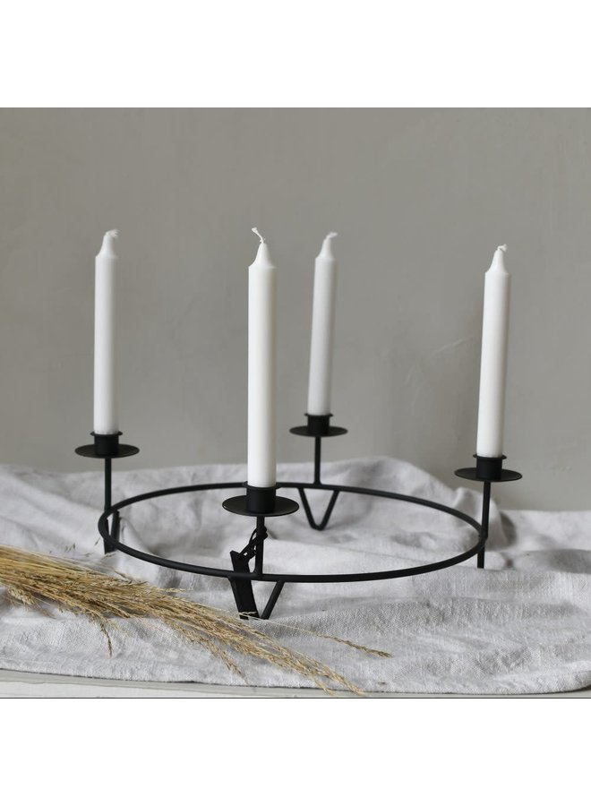 Gullabo candle holder black