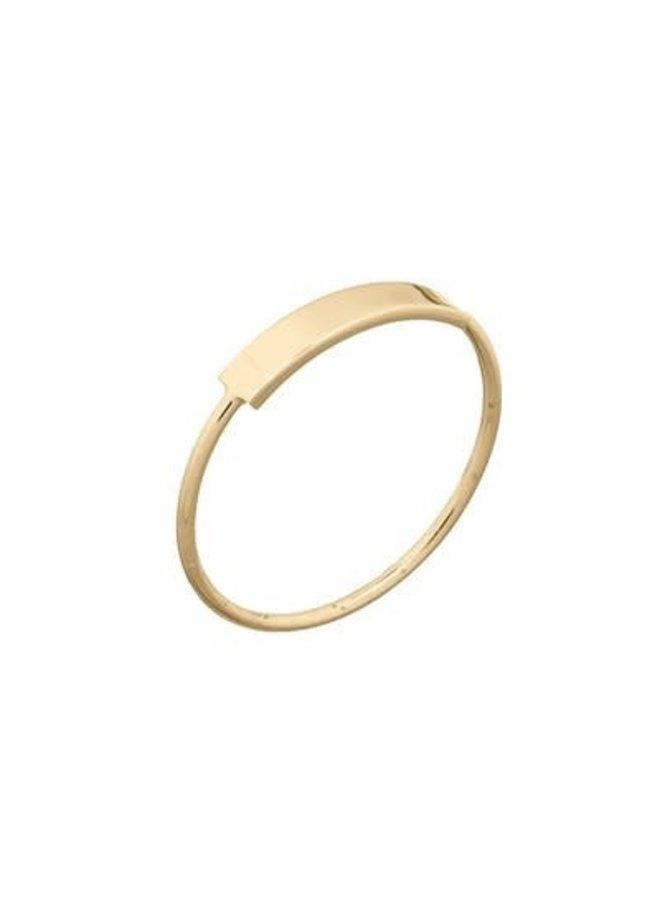 Ring goud bar M/17 mm