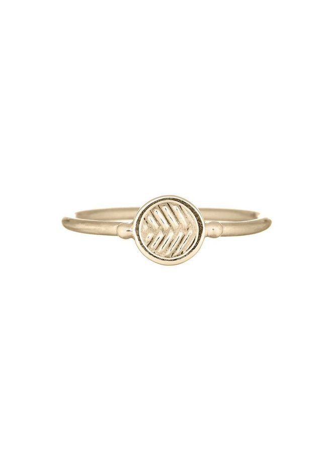 Ring goud fishbone 16 mm