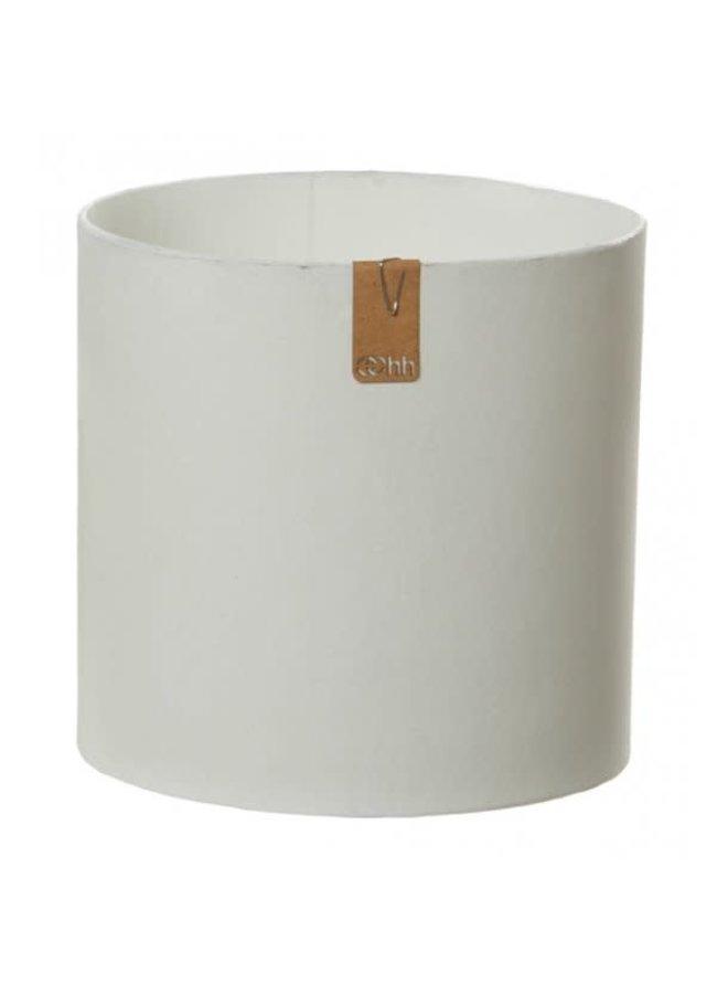 Tokyo cylinder Pot, White L