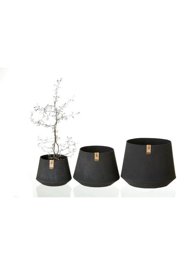 Tokyo Pot schuin, black M