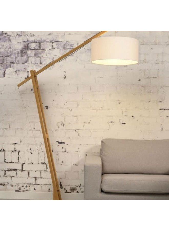 Floor lamp Montblanc bamboo 4723 eco linen, wit