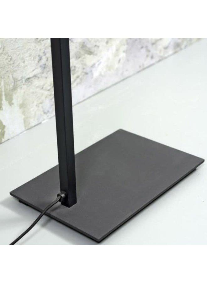 Vloerlamp ijzer Boston Hoogte 1.60 cm zwart