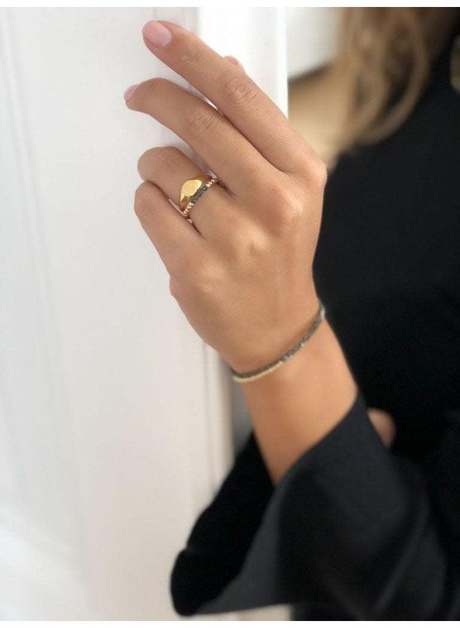 Ring goud - signet S/16 mm