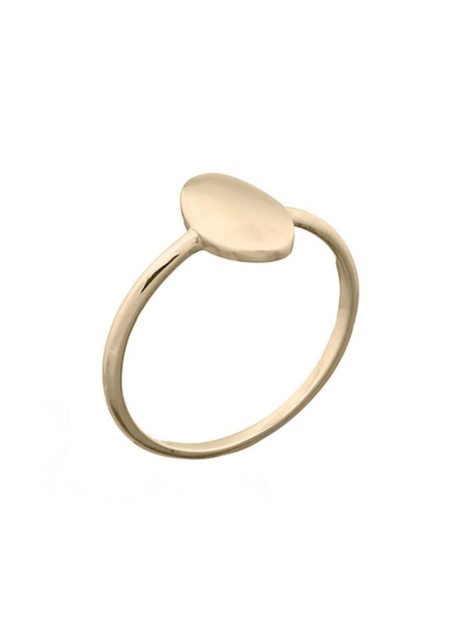 Ring goud - Oval L/18 mm