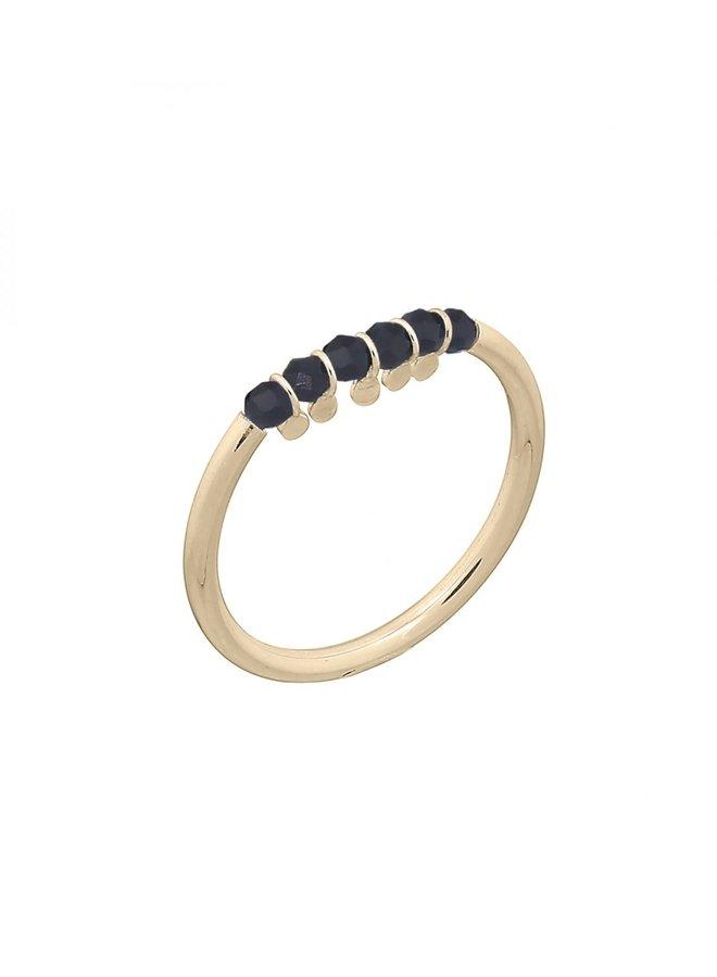 Ring goud bits black S/16 mm