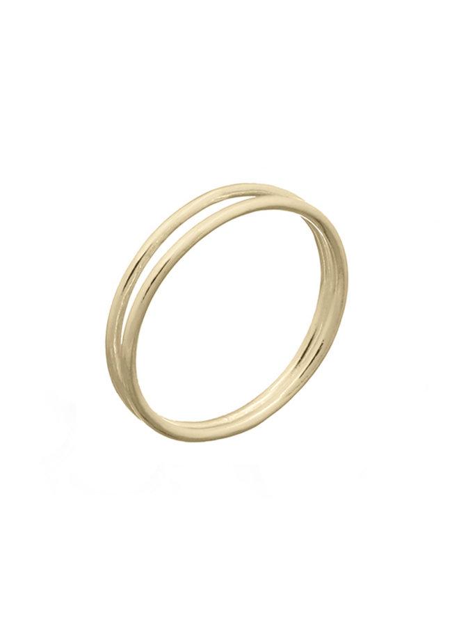 Ring goud dual S/16 mm