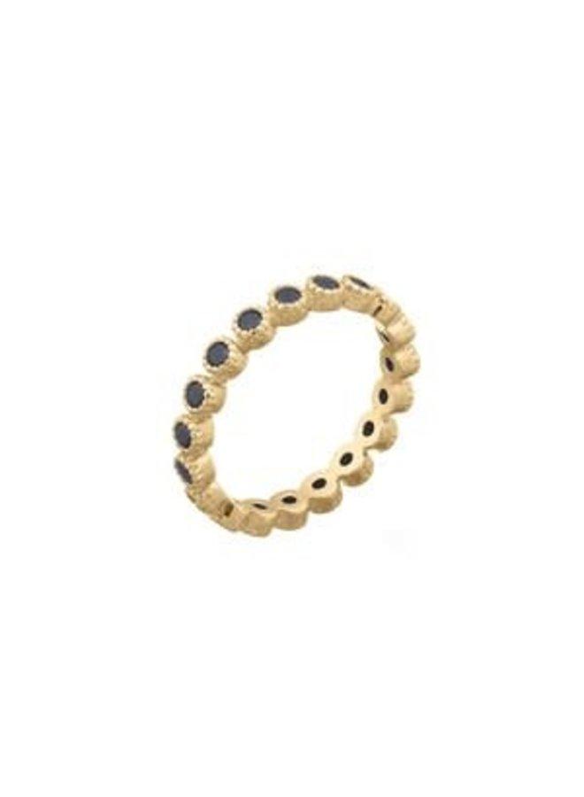 Ring goud blacky black S/16 mm