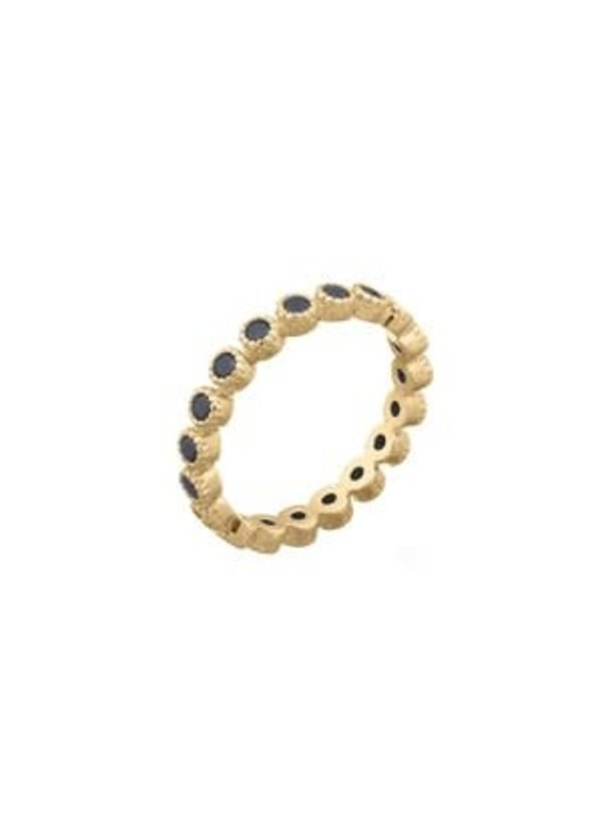 Ring goud black black M/17 mm